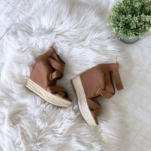 BCBGeneration Brown and Tan Wedges | 6.5